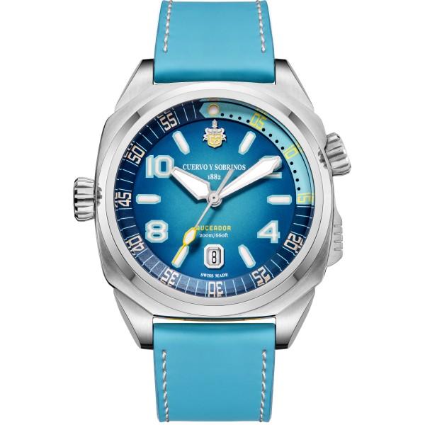 Pánske hodinky_Cuervo y Sobrinos BUCEADOR CARIBE 2860.1AZ_Dom hodín MAX