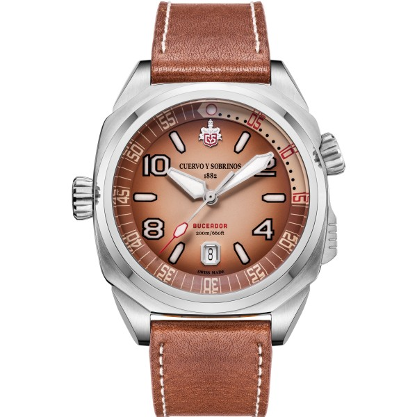 Pánske hodinky_Cuervo y Sobrinos BUCEADOR CARIBE 2860.1AR_Dom hodín MAX